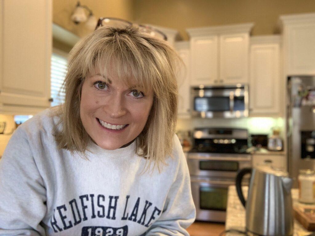 Melinda in the kitchen.
