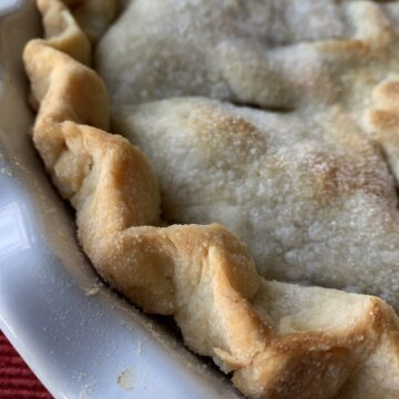 Baked pie crust