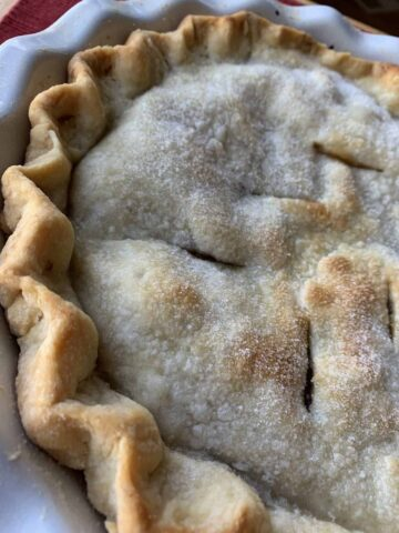 Baked pie crust.