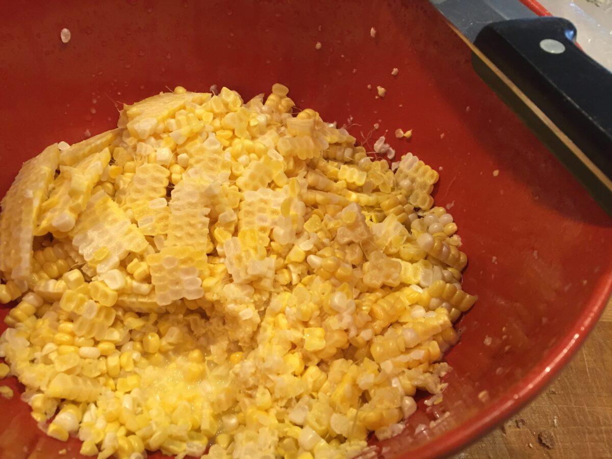 Bowl of fresh corn.